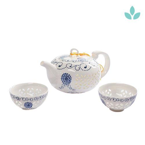 Chinese Hollow Porcelain Tea Set