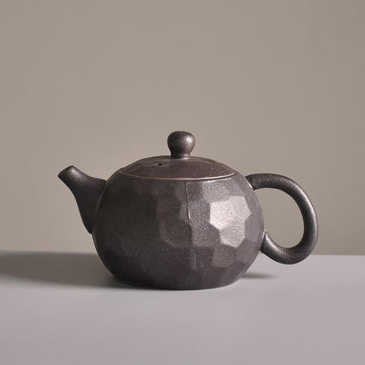 Chinese Style Ceramic Teapot-Black-TopicTea