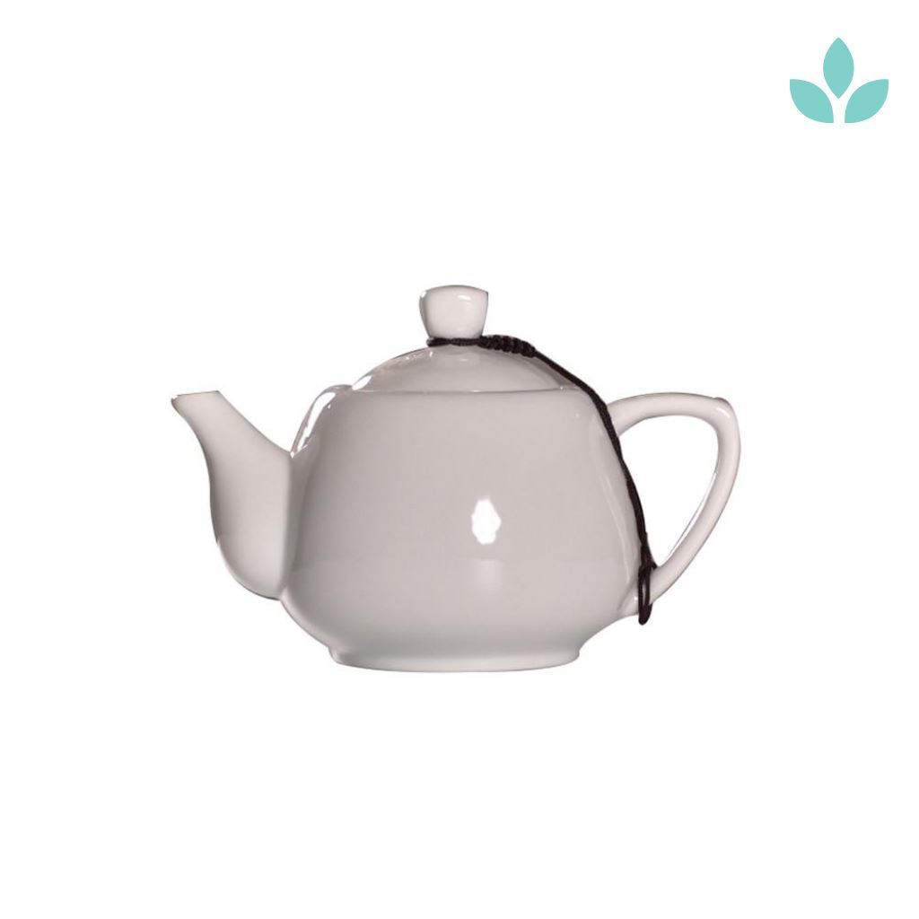 250ml white Chinese ceramic teapot