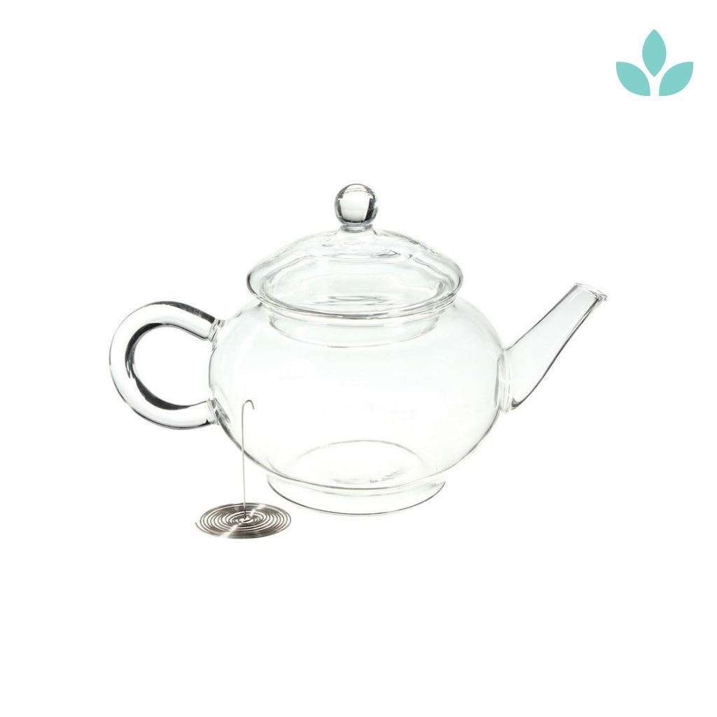 Clear Glass Teapot with Metal Infuser-TopicTea