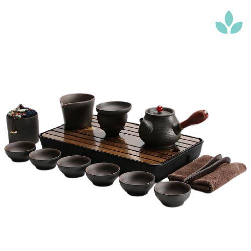 Complete Japanese Kyusu Teapot with Serving Tray-TopicTea