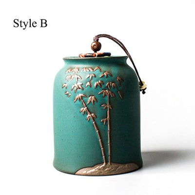 Embossed Tea Canister-Style B-TopicTea