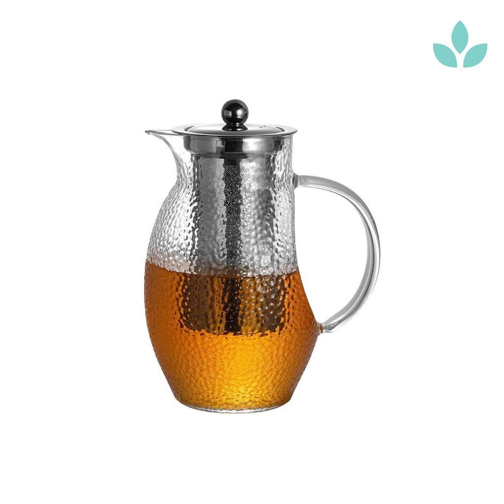 Elegant Penguin Infuser and Kettle glass Teapot