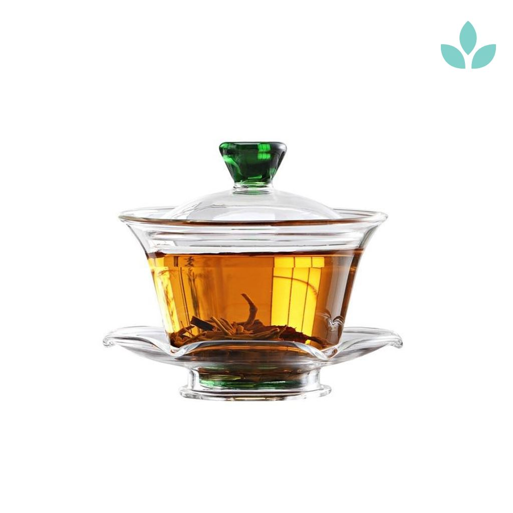 Glass Gaiwan Green Lid