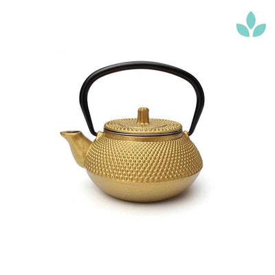 Gold Cast Iron Teapot