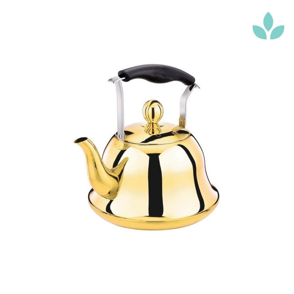 Golden Kettle with Infuser Teapot