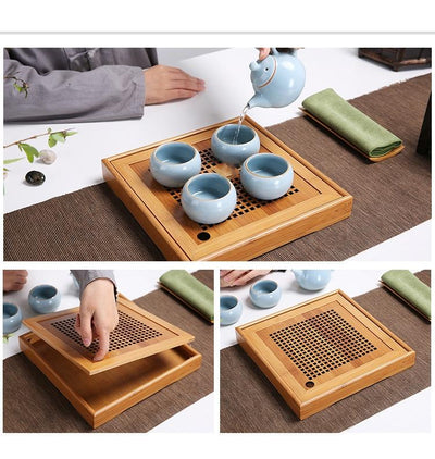 Gongfu Bamboo Tea Ceremony Tray-TopicTea