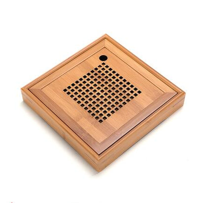 Gongfu Bamboo Tea Ceremony Tray-20x20x3.5cm-TopicTea