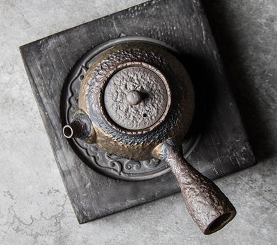 Hammered Kyusu with Long Handle-TopicTea
