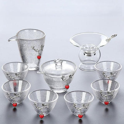 heat resistant easy gaiwan gong fu style tea set