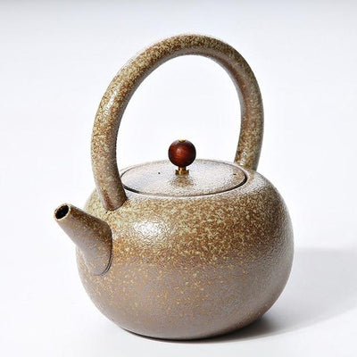 Hobnail Japanese Teapot-Brown 500ml-TopicTea
