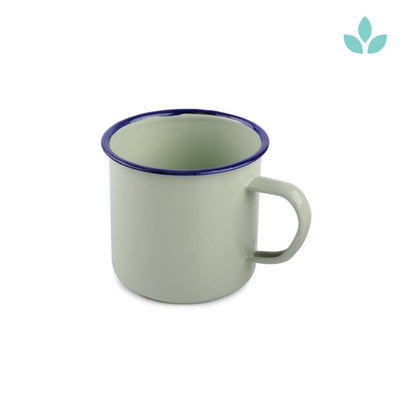 Light Green Enamel Vintage Tea Mug