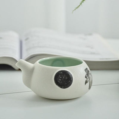 Lotus Blossom Japanese Kyusu Style Tea Set-TopicTea