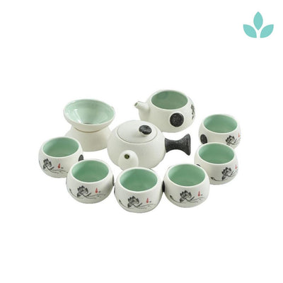 Lotus Blossom Japanese Kyusu Style Tea Set
