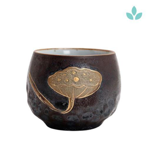 Lotus Flower Decorated Tea Cup