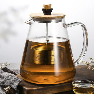 Modern Glass Teapot with infuser
