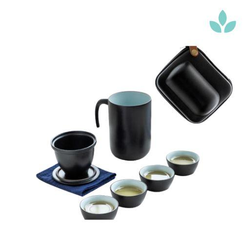 Outdoor Portable Tea Set with Hard Pouch-TopicTea