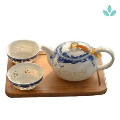Porcelain Oriental Teapot with 2 Cups-TopicTea