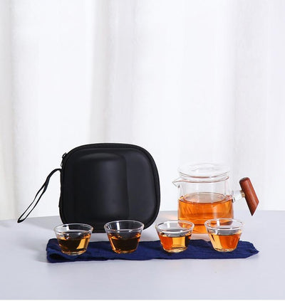 Portable Glass Tea Set with Carrying Case-TopicTea