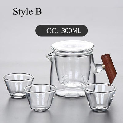 Portable Glass Tea Set with Carrying Case-Style B-TopicTea