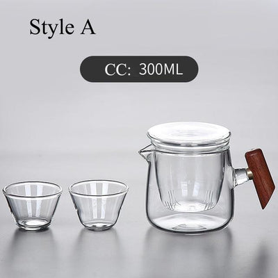 Portable Glass Tea Set with Carrying Case-Style A-TopicTea