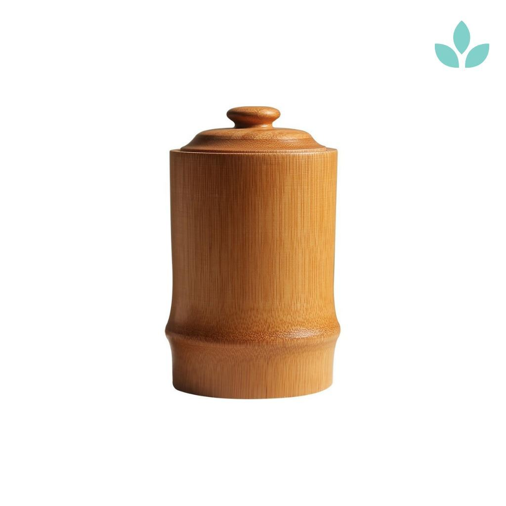 Protective Bamboo Tea Storage Canister