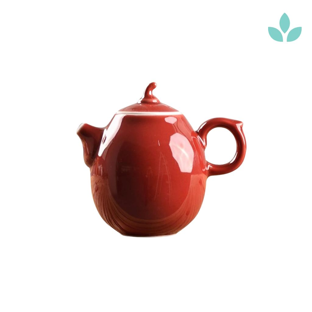 Red Chinese Style Teapot