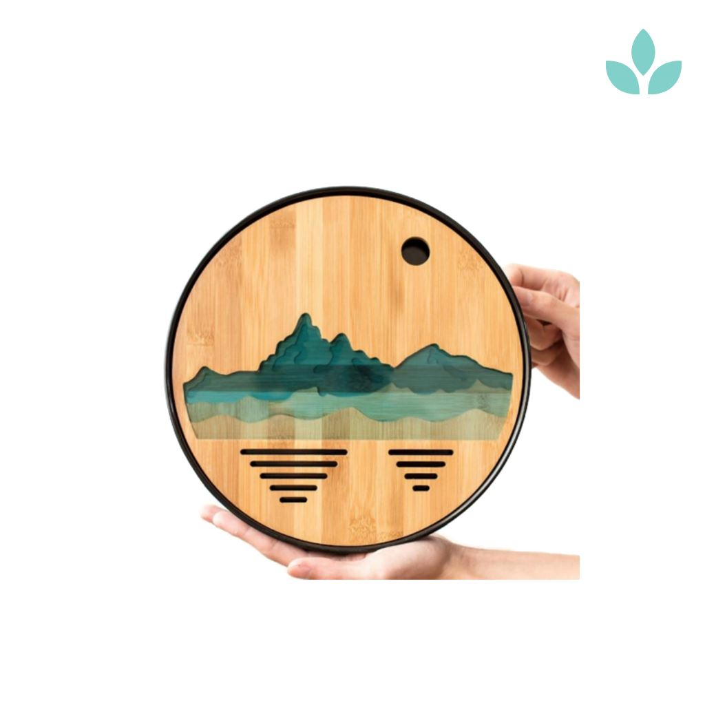 Round Bamboo Tea Tray