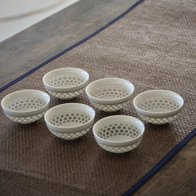 Set of 6 Small Asian Porcelain Tea Cups-Style B-TopicTea
