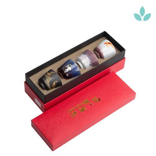 Sets of 4 Tea Ceremony Cups with Gift Box