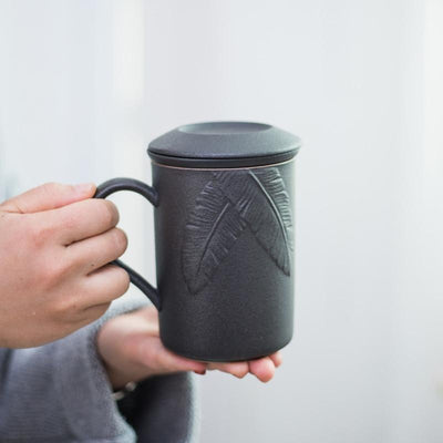Tall Embossed Tea Maker Mug With Infuser-TopicTea