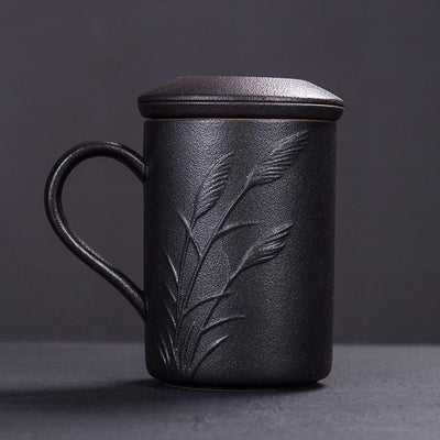 Tall Embossed Tea Maker Mug With Infuser-Style B-TopicTea