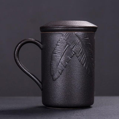 Tall Embossed Tea Maker Mug With Infuser-Style A-TopicTea