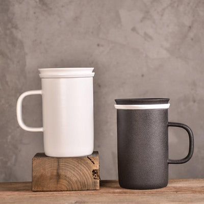 Tall Modern Tea Mug with Infuser-TopicTea