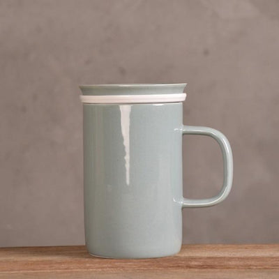 Tall Modern Tea Mug with Infuser-Green-TopicTea