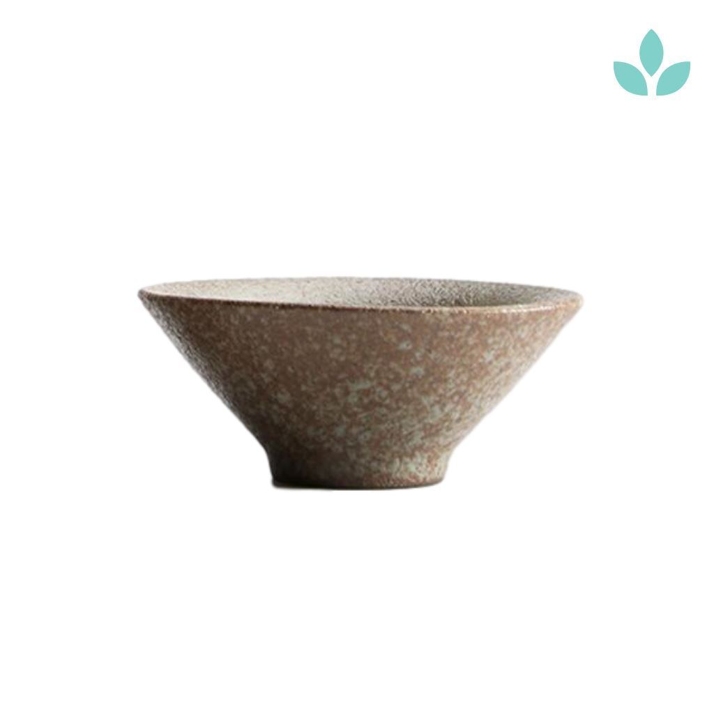 Traditional Authentic Raku Tea Cup in Ceramic