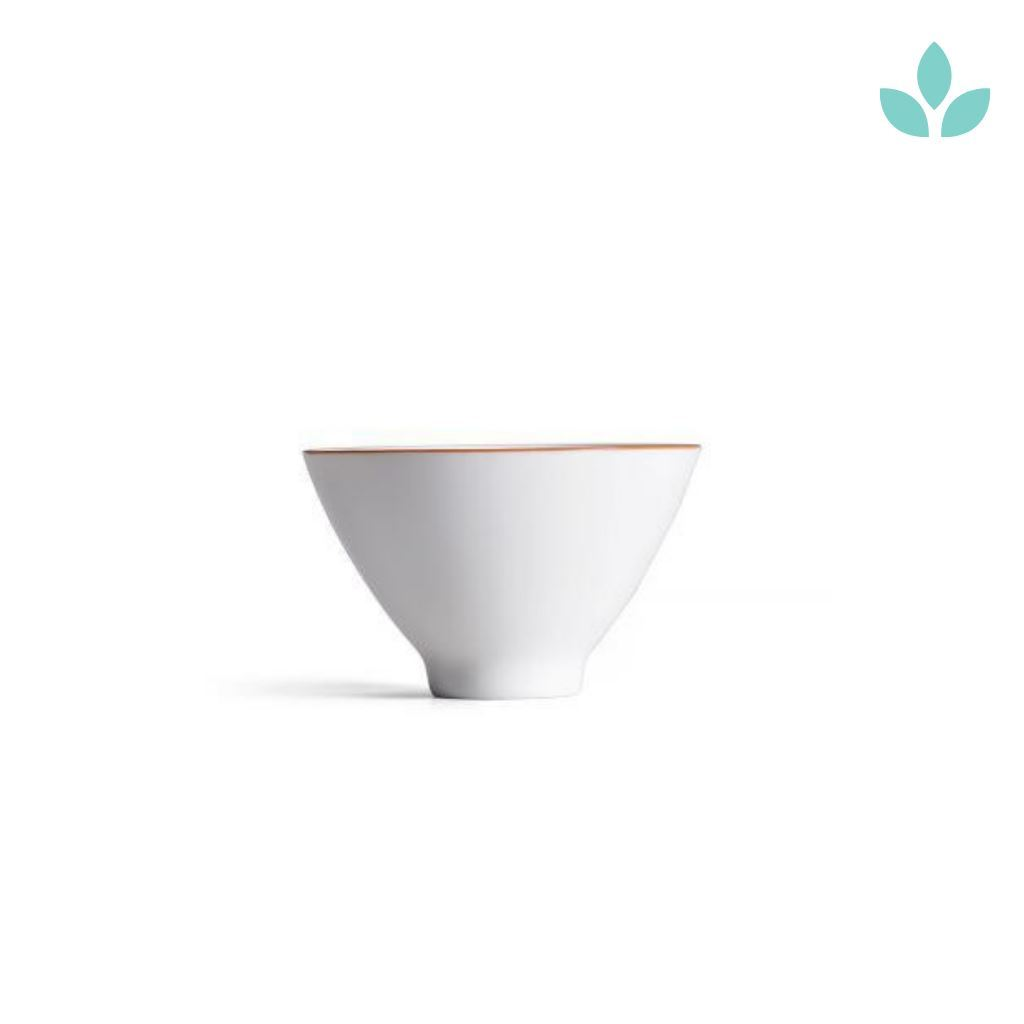 White Elegant Ceramic Tea Cup