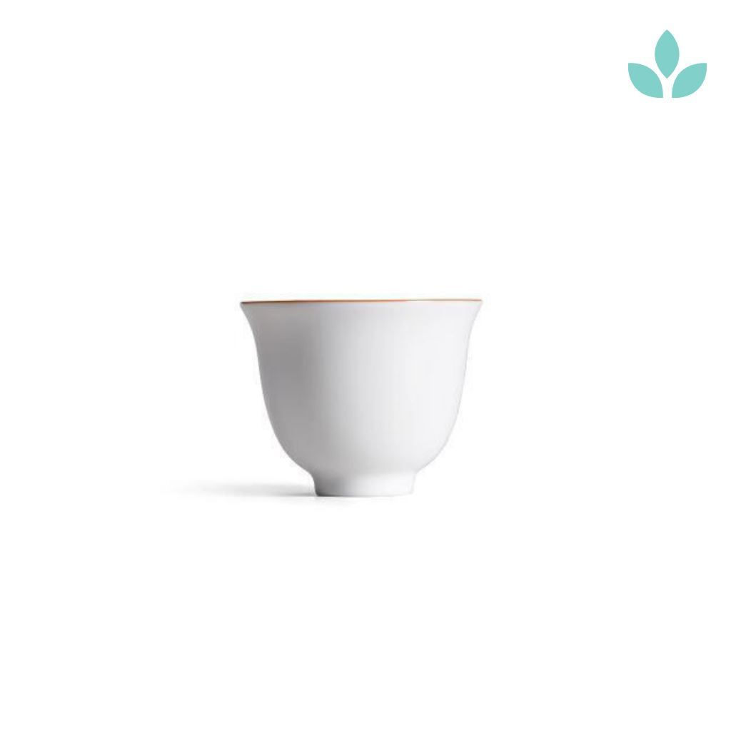 White  Korean Style Tea Cup