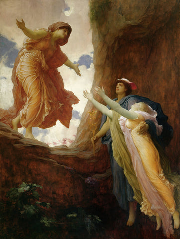 Painting of Persephone being returned to Demeter of Persephone's Abduction by Hades.