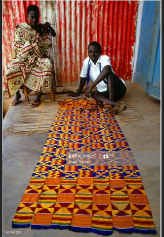 Kente Weavers in ghana