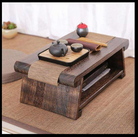 Japanese solid wood tea table