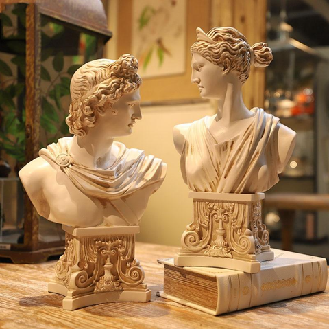 Busts of Artemis and Apollo
