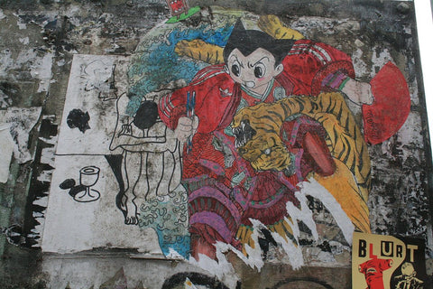 Astro boy graffiti