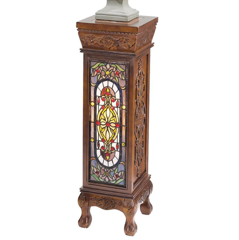 stained glass pedestal