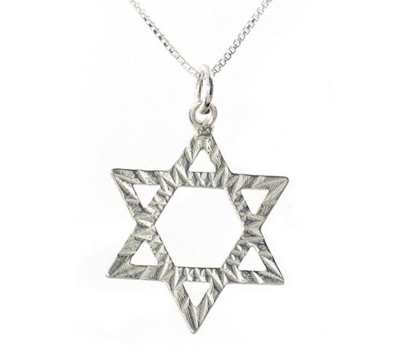 Pendant of Sterling Silver in Star of David Design