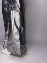 Load image into Gallery viewer, Silver Flared Leather Label X Jeans