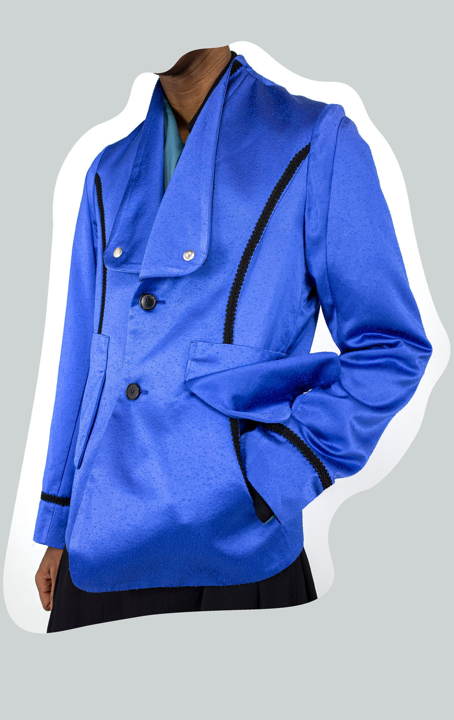 00102021 ARCADIA TAILORED BLAZER BLUE