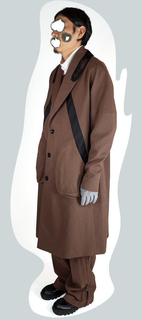 00092020 BINDRA OVERCOAT BROWN