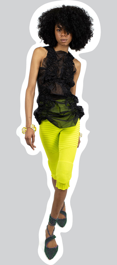 ELSPETH KNIT CAPRI ACID GREEN