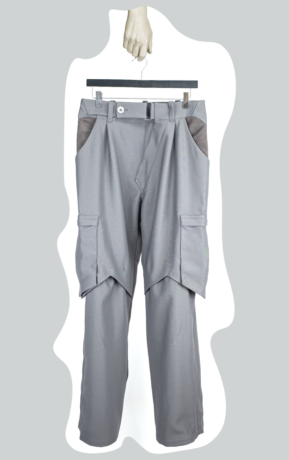 KIKO KOSTADINOV 00092020 BINDRA CARGO TROUSERS GREY
